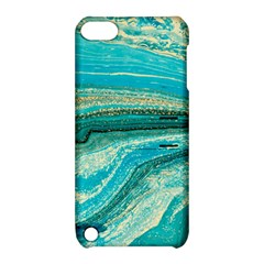 Mint,gold,marble,nature,stone,pattern,modern,chic,elegant,beautiful,trendy Apple Ipod Touch 5 Hardshell Case With Stand