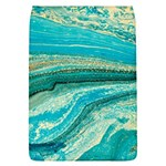Mint,gold,marble,nature,stone,pattern,modern,chic,elegant,beautiful,trendy Flap Covers (L)  Front
