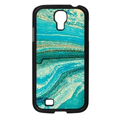 Mint,gold,marble,nature,stone,pattern,modern,chic,elegant,beautiful,trendy Samsung Galaxy S4 I9500/ I9505 Case (black)