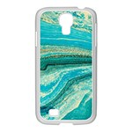 Mint,gold,marble,nature,stone,pattern,modern,chic,elegant,beautiful,trendy Samsung GALAXY S4 I9500/ I9505 Case (White) Front