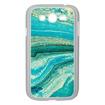 Mint,gold,marble,nature,stone,pattern,modern,chic,elegant,beautiful,trendy Samsung Galaxy Grand DUOS I9082 Case (White) Front