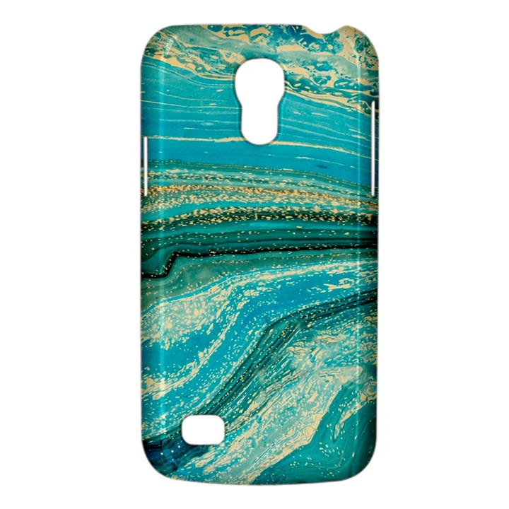 Mint,gold,marble,nature,stone,pattern,modern,chic,elegant,beautiful,trendy Galaxy S4 Mini