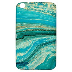 Mint,gold,marble,nature,stone,pattern,modern,chic,elegant,beautiful,trendy Samsung Galaxy Tab 3 (8 ) T3100 Hardshell Case