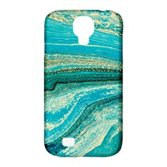 Mint,gold,marble,nature,stone,pattern,modern,chic,elegant,beautiful,trendy Samsung Galaxy S4 Classic Hardshell Case (pc+silicone)