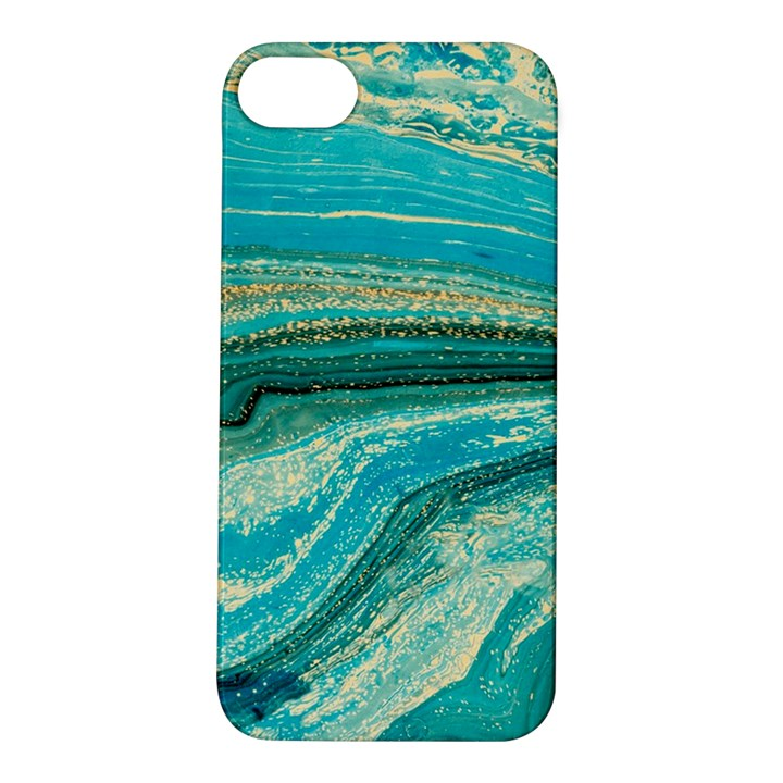 Mint,gold,marble,nature,stone,pattern,modern,chic,elegant,beautiful,trendy Apple iPhone 5S/ SE Hardshell Case