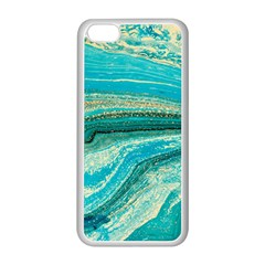 Mint,gold,marble,nature,stone,pattern,modern,chic,elegant,beautiful,trendy Apple Iphone 5c Seamless Case (white)