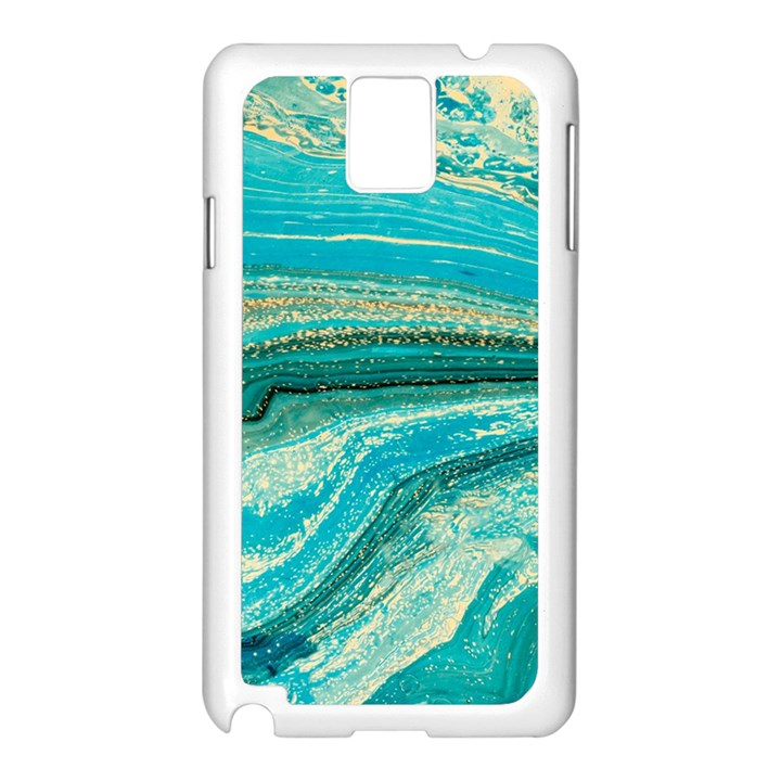 Mint,gold,marble,nature,stone,pattern,modern,chic,elegant,beautiful,trendy Samsung Galaxy Note 3 N9005 Case (White)
