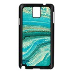 Mint,gold,marble,nature,stone,pattern,modern,chic,elegant,beautiful,trendy Samsung Galaxy Note 3 N9005 Case (Black) Front