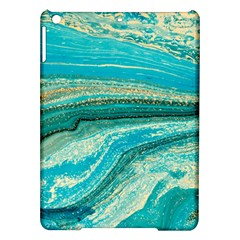 Mint,gold,marble,nature,stone,pattern,modern,chic,elegant,beautiful,trendy Ipad Air Hardshell Cases