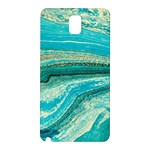 Mint,gold,marble,nature,stone,pattern,modern,chic,elegant,beautiful,trendy Samsung Galaxy Note 3 N9005 Hardshell Back Case Front