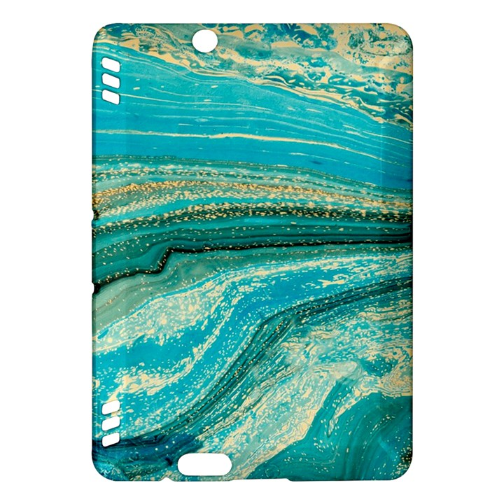 Mint,gold,marble,nature,stone,pattern,modern,chic,elegant,beautiful,trendy Kindle Fire HDX Hardshell Case