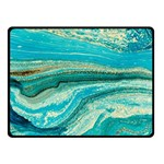 Mint,gold,marble,nature,stone,pattern,modern,chic,elegant,beautiful,trendy Double Sided Fleece Blanket (Small)  50 x40 Blanket Back