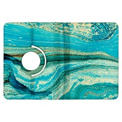 Mint,gold,marble,nature,stone,pattern,modern,chic,elegant,beautiful,trendy Kindle Fire Hdx Flip 360 Case