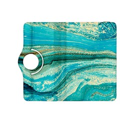 Mint,gold,marble,nature,stone,pattern,modern,chic,elegant,beautiful,trendy Kindle Fire Hdx 8 9  Flip 360 Case