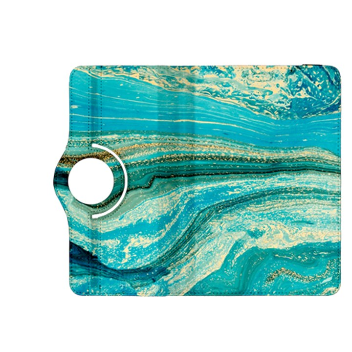 Mint,gold,marble,nature,stone,pattern,modern,chic,elegant,beautiful,trendy Kindle Fire HDX 8.9  Flip 360 Case