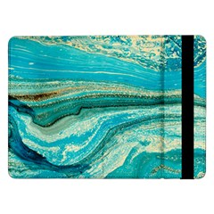 Mint,gold,marble,nature,stone,pattern,modern,chic,elegant,beautiful,trendy Samsung Galaxy Tab Pro 12 2  Flip Case