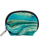 Mint,gold,marble,nature,stone,pattern,modern,chic,elegant,beautiful,trendy Accessory Pouches (Small)  Front