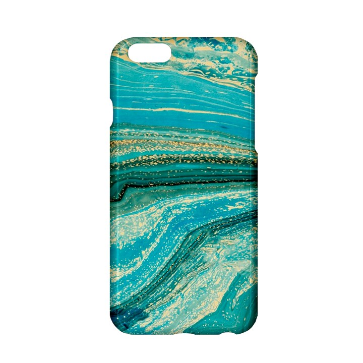 Mint,gold,marble,nature,stone,pattern,modern,chic,elegant,beautiful,trendy Apple iPhone 6/6S Hardshell Case