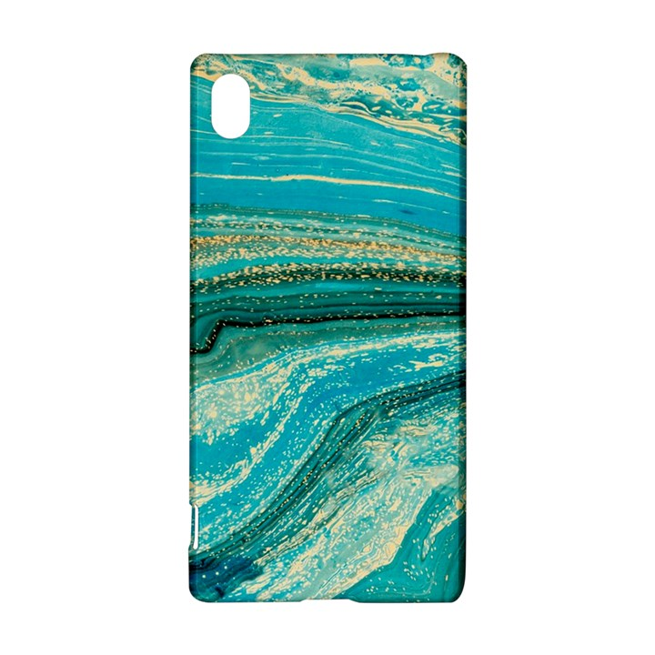 Mint,gold,marble,nature,stone,pattern,modern,chic,elegant,beautiful,trendy Sony Xperia Z3+
