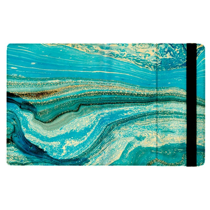 Mint,gold,marble,nature,stone,pattern,modern,chic,elegant,beautiful,trendy Apple iPad Pro 12.9   Flip Case