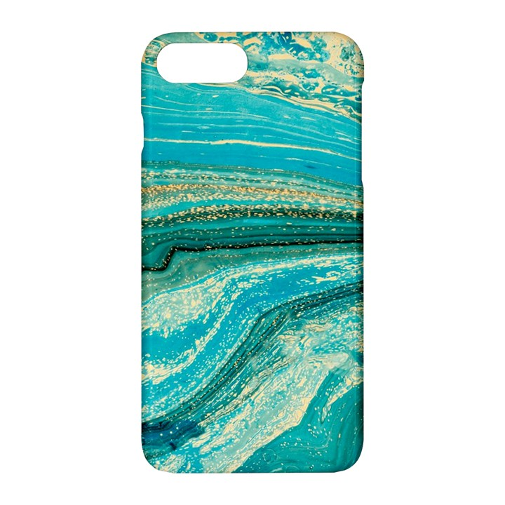 Mint,gold,marble,nature,stone,pattern,modern,chic,elegant,beautiful,trendy Apple iPhone 7 Plus Hardshell Case