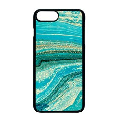 Mint,gold,marble,nature,stone,pattern,modern,chic,elegant,beautiful,trendy Apple Iphone 7 Plus Seamless Case (black)
