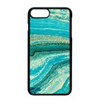 Mint,gold,marble,nature,stone,pattern,modern,chic,elegant,beautiful,trendy Apple iPhone 7 Plus Seamless Case (Black) Front