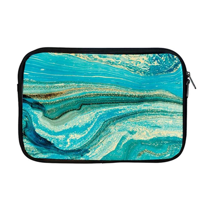 Mint,gold,marble,nature,stone,pattern,modern,chic,elegant,beautiful,trendy Apple MacBook Pro 17  Zipper Case