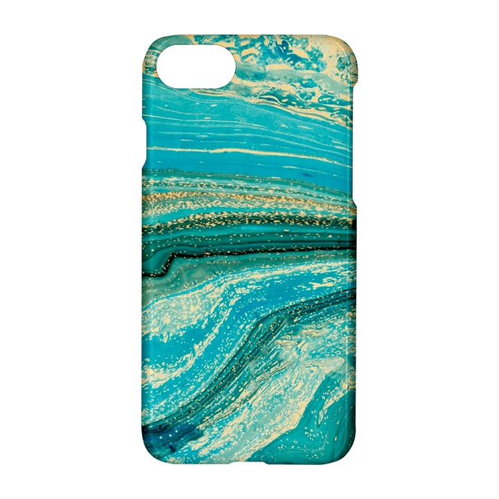 Mint,gold,marble,nature,stone,pattern,modern,chic,elegant,beautiful,trendy Apple iPhone 8 Hardshell Case