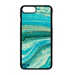 Mint,gold,marble,nature,stone,pattern,modern,chic,elegant,beautiful,trendy Apple iPhone 8 Plus Seamless Case (Black) Front