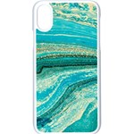 Mint,gold,marble,nature,stone,pattern,modern,chic,elegant,beautiful,trendy Apple iPhone X Seamless Case (White) Front