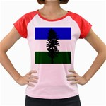 Flag of Cascadia Women s Cap Sleeve T-Shirt Front