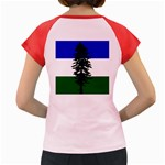Flag of Cascadia Women s Cap Sleeve T-Shirt Back