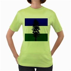 Flag Of Cascadia Women s Green T Shirt