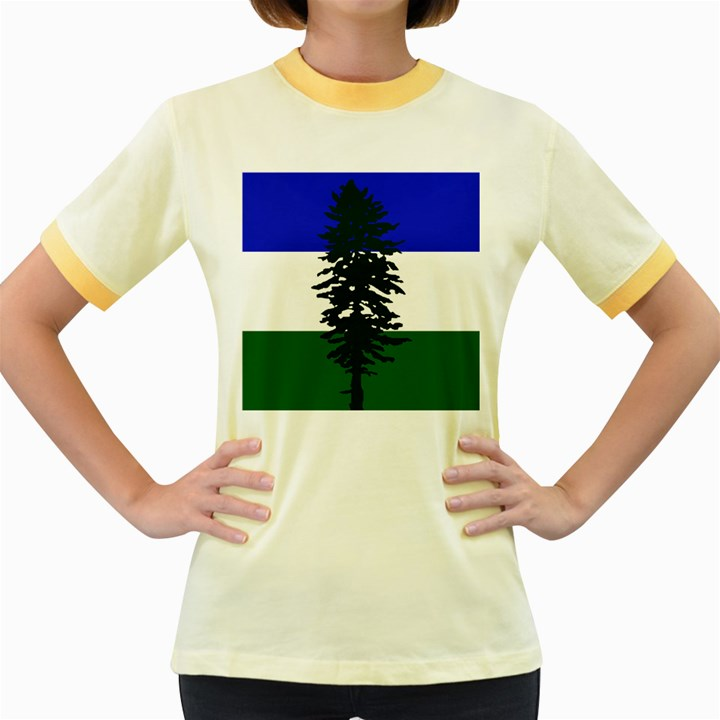 Flag of Cascadia Women s Fitted Ringer T-Shirts