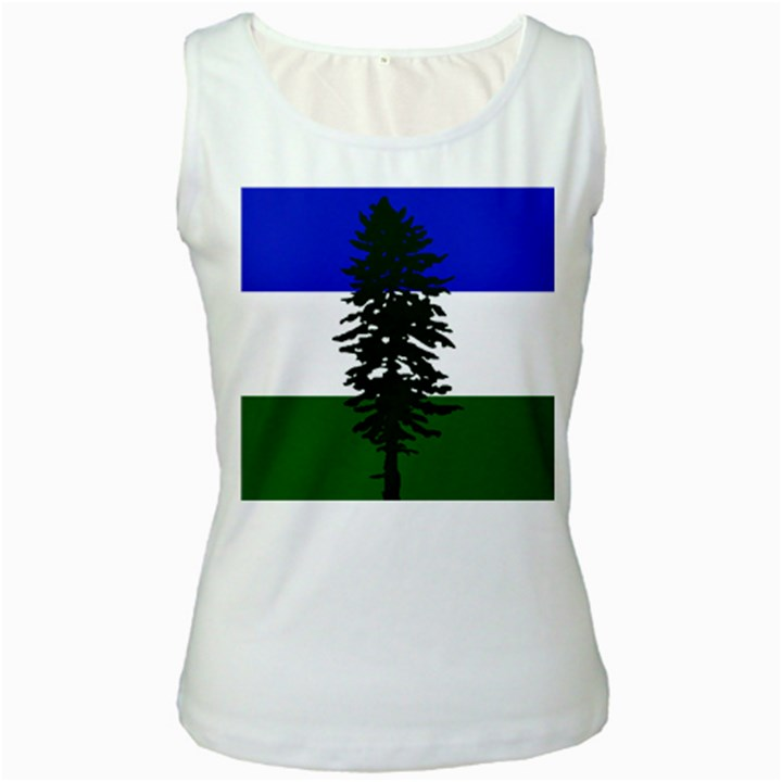 Flag of Cascadia Women s White Tank Top