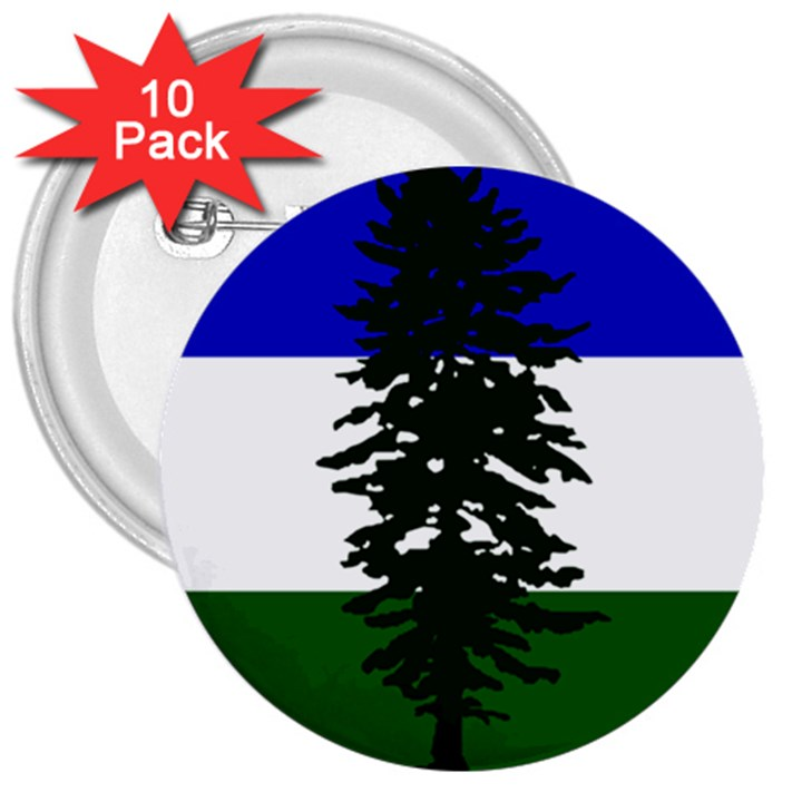 Flag of Cascadia 3  Buttons (10 pack)