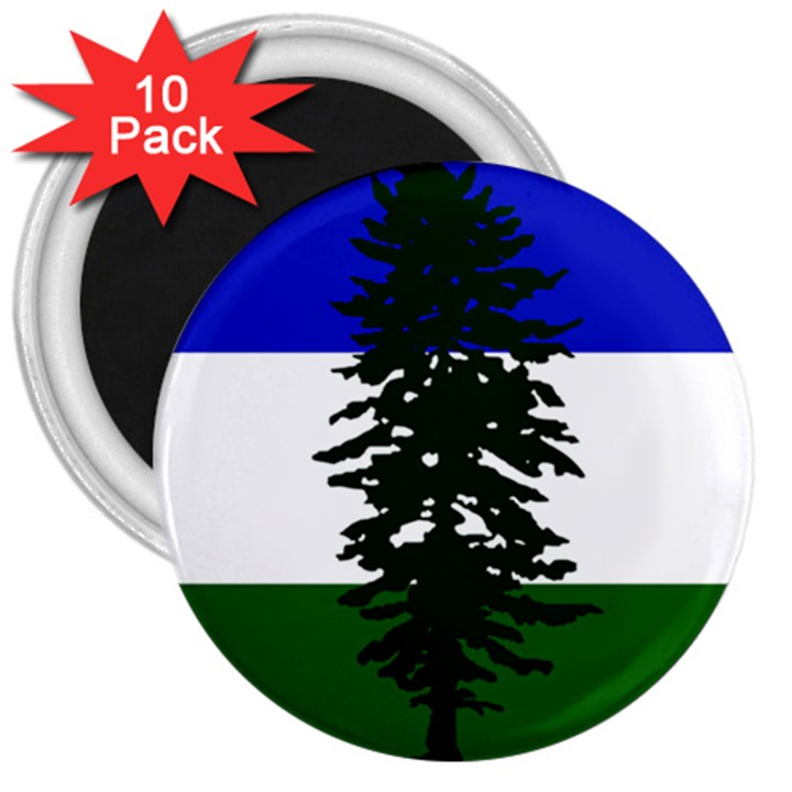 Flag of Cascadia 3  Magnets (10 pack)