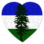 Flag of Cascadia Jigsaw Puzzle (Heart) Front
