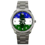 Flag of Cascadia Sport Metal Watch Front