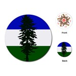 Flag of Cascadia Playing Cards (Round)  Front