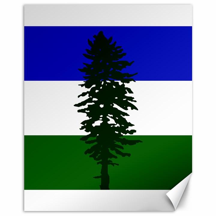 Flag of Cascadia Canvas 11  x 14