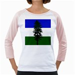 Flag of Cascadia Girly Raglans Front