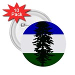 Flag of Cascadia 2.25  Buttons (10 pack)  Front