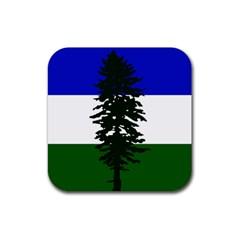 Flag Of Cascadia Rubber Coaster (square)