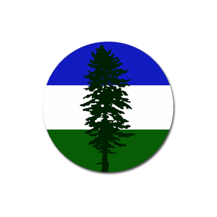 Flag of Cascadia Magnet 3  (Round)