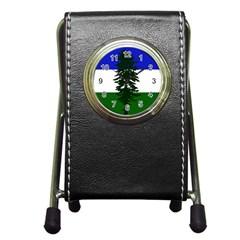 Flag Of Cascadia Pen Holder Desk Clocks