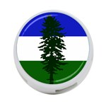 Flag of Cascadia 4-Port USB Hub (Two Sides)  Front