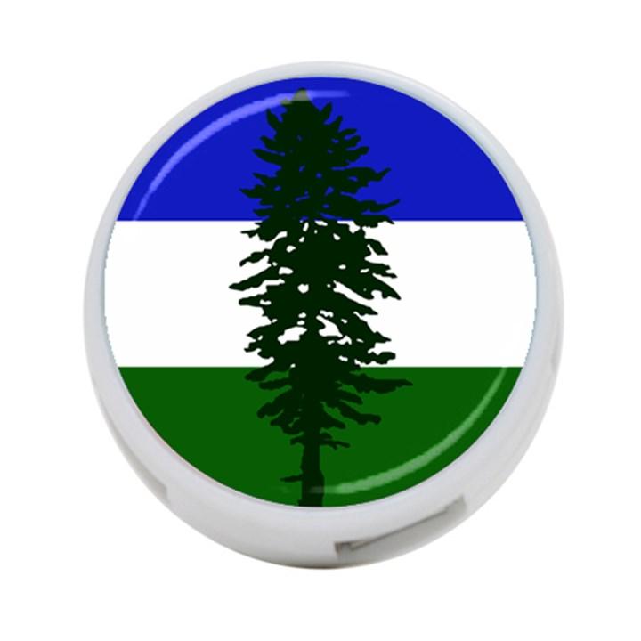 Flag of Cascadia 4-Port USB Hub (Two Sides)