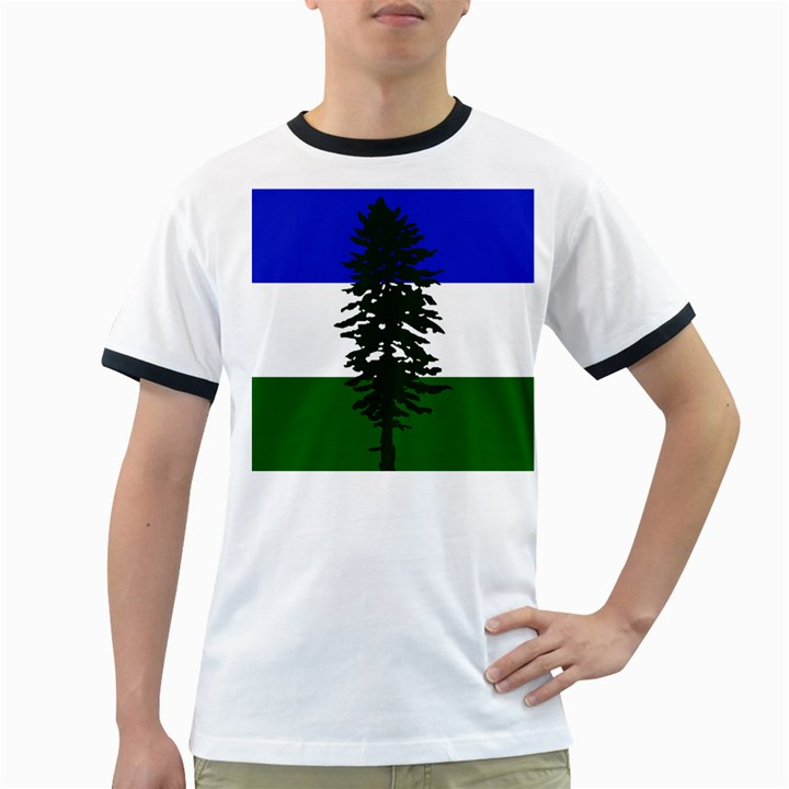 Flag of Cascadia Ringer T-Shirts